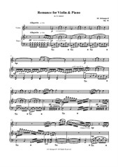 Romance for Violin and Piano - in A minor